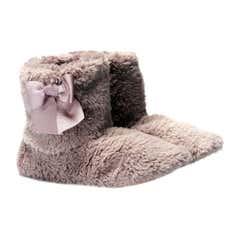 Ladies Teddy Bear Boot Slippers
