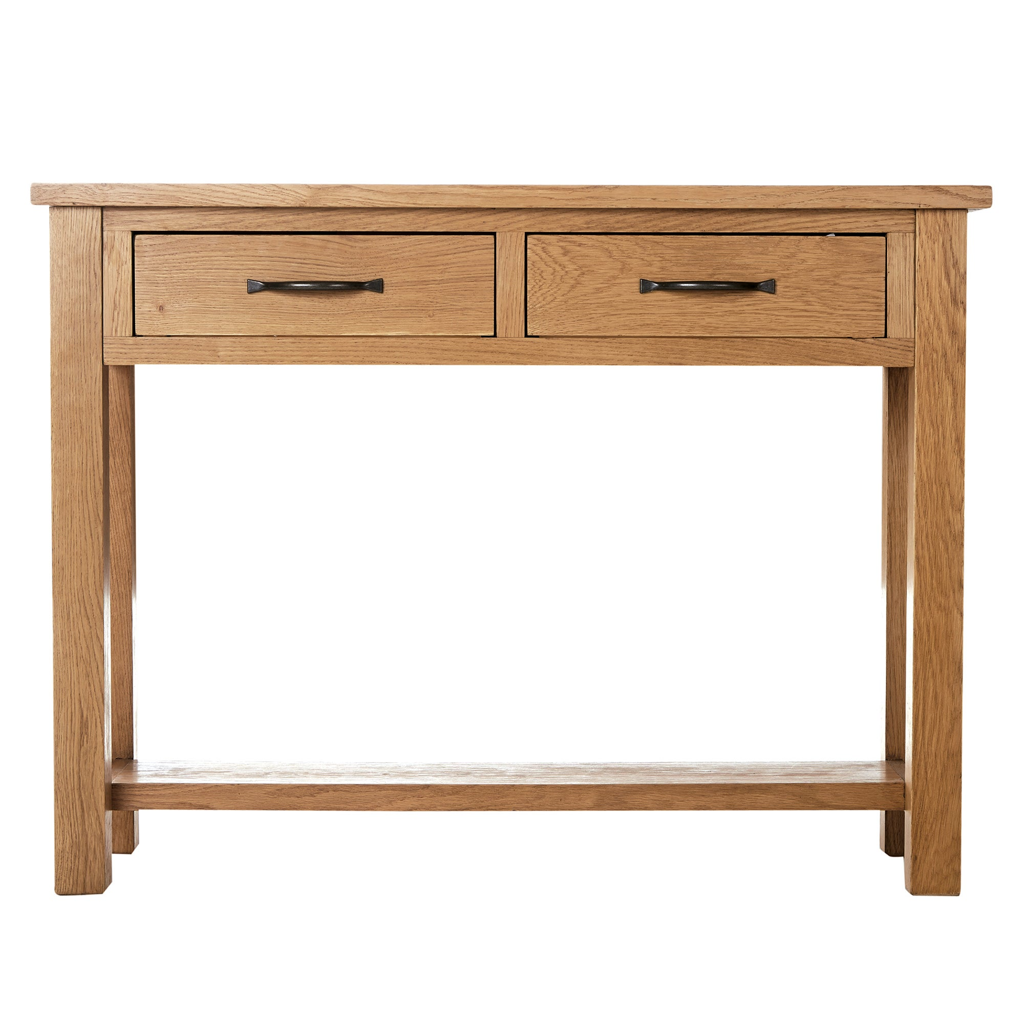 Sidmouth Oak 2 Drawer Console Table