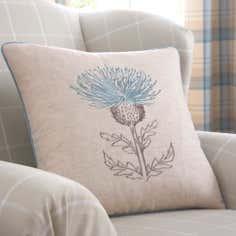 Duck Egg Balmoral Collection Thistle Cushion