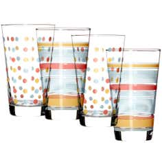 Set of Four Decorated Tumblers