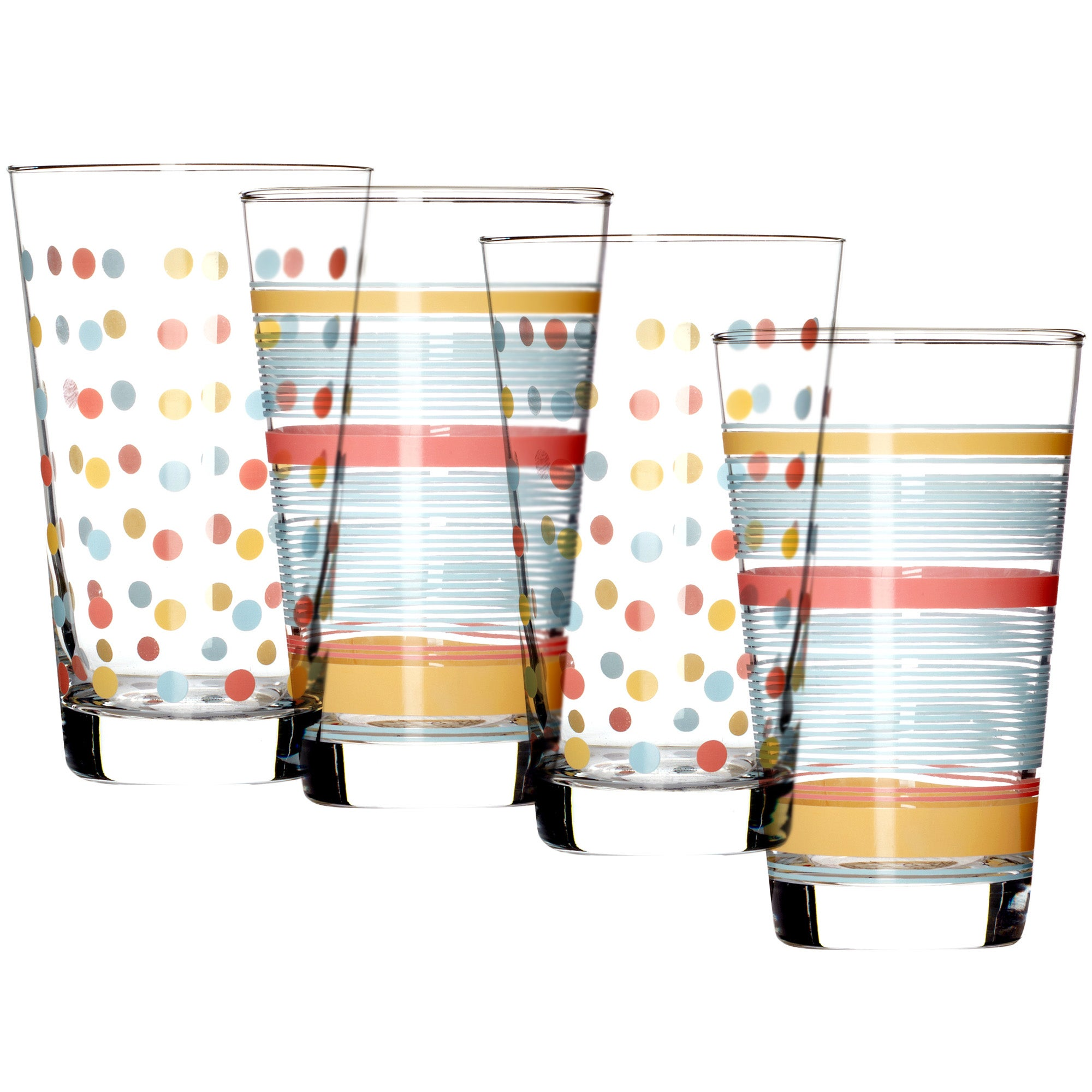 Set of 4 Decorated Tumblers