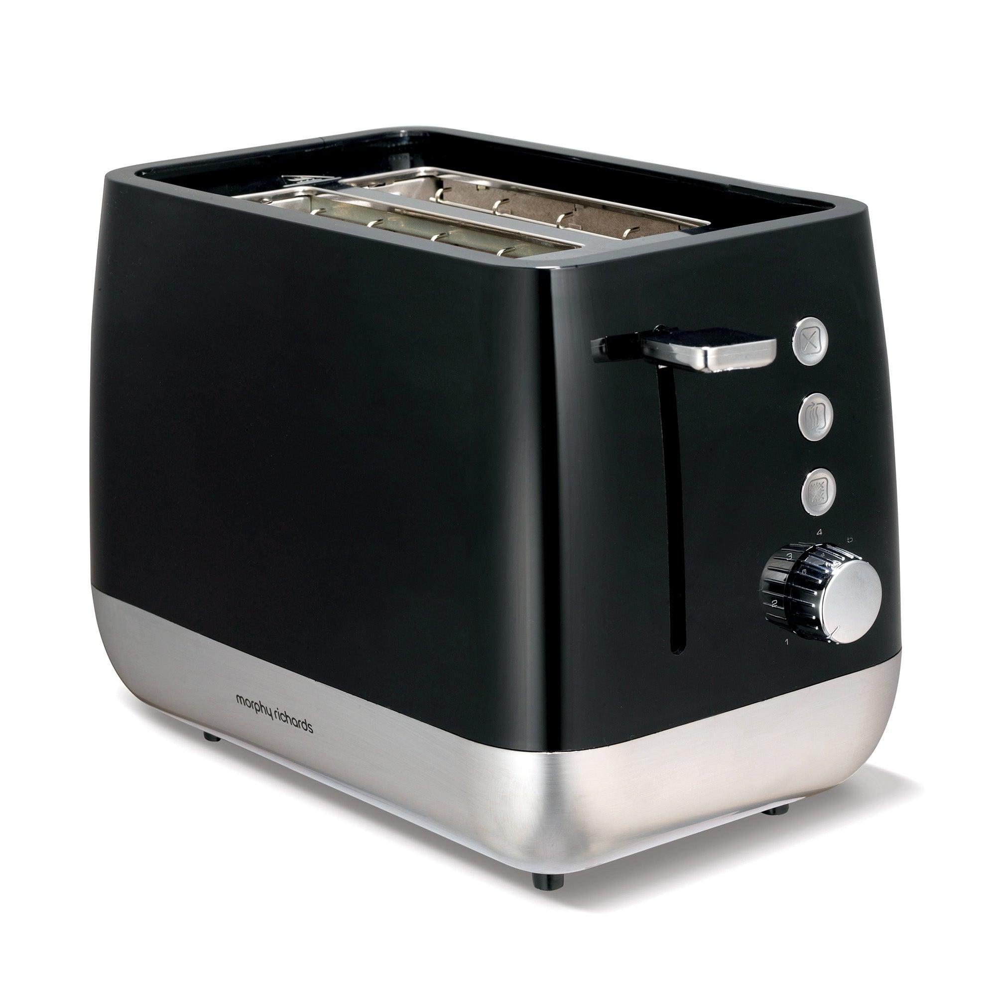 Morphy Richards Chroma Premium 221152 Black 2 Slice Toaster