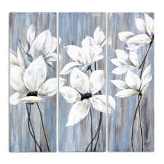 Grey Floral Canvas