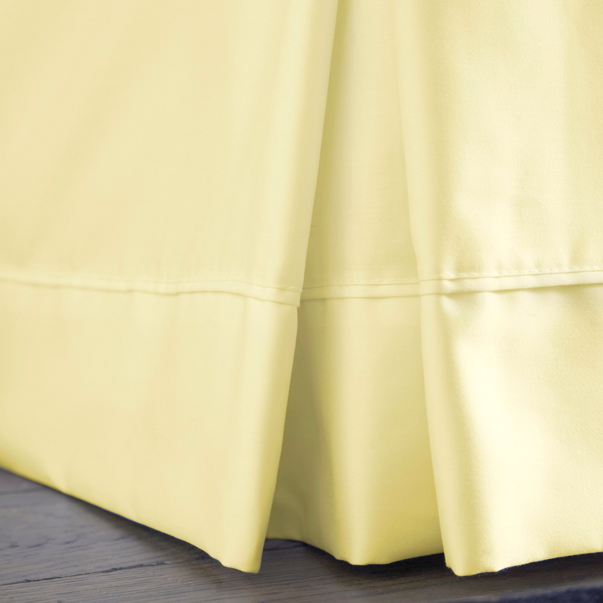 Dorma Yellow 350 Thread Count Plain Dye Collection Valance