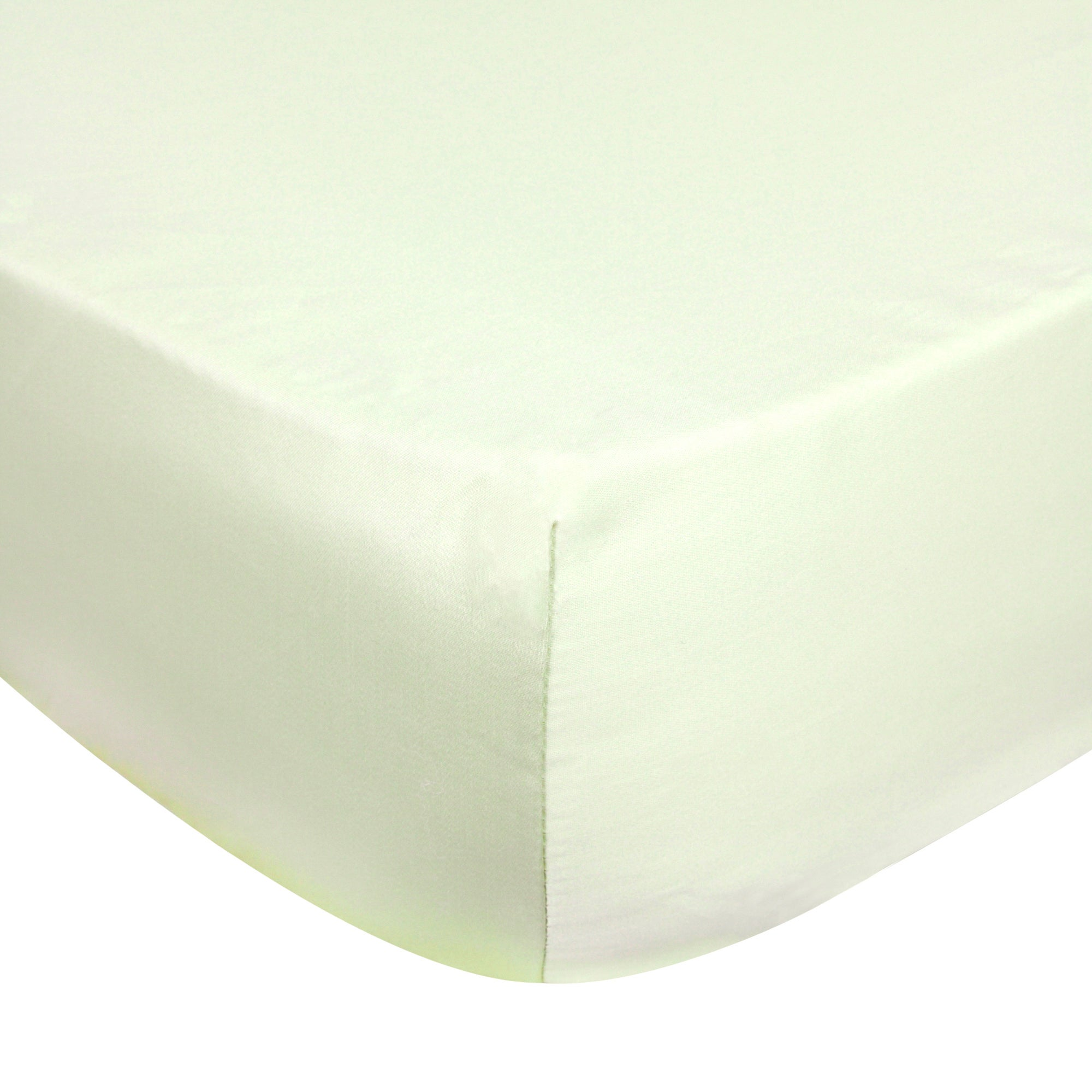 Dorma Green 350 Thread Count Plain Dye Bed Linen Collection Extra Deep Fitted Sheet