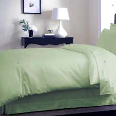 Dorma Green 350 Thread Count Plain Dye Collection Duvet Cover