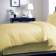 Dorma Yellow 350 Thread Count Plain Dye Collection Duvet Cover