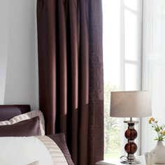 Chocolate Athens Pencil Pleat Curtains
