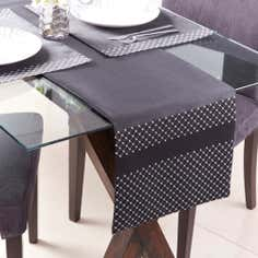 Black Diamond Faux Silk Placemat