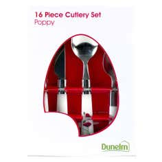 Poppy Collection 16 Piece Cutlery Set