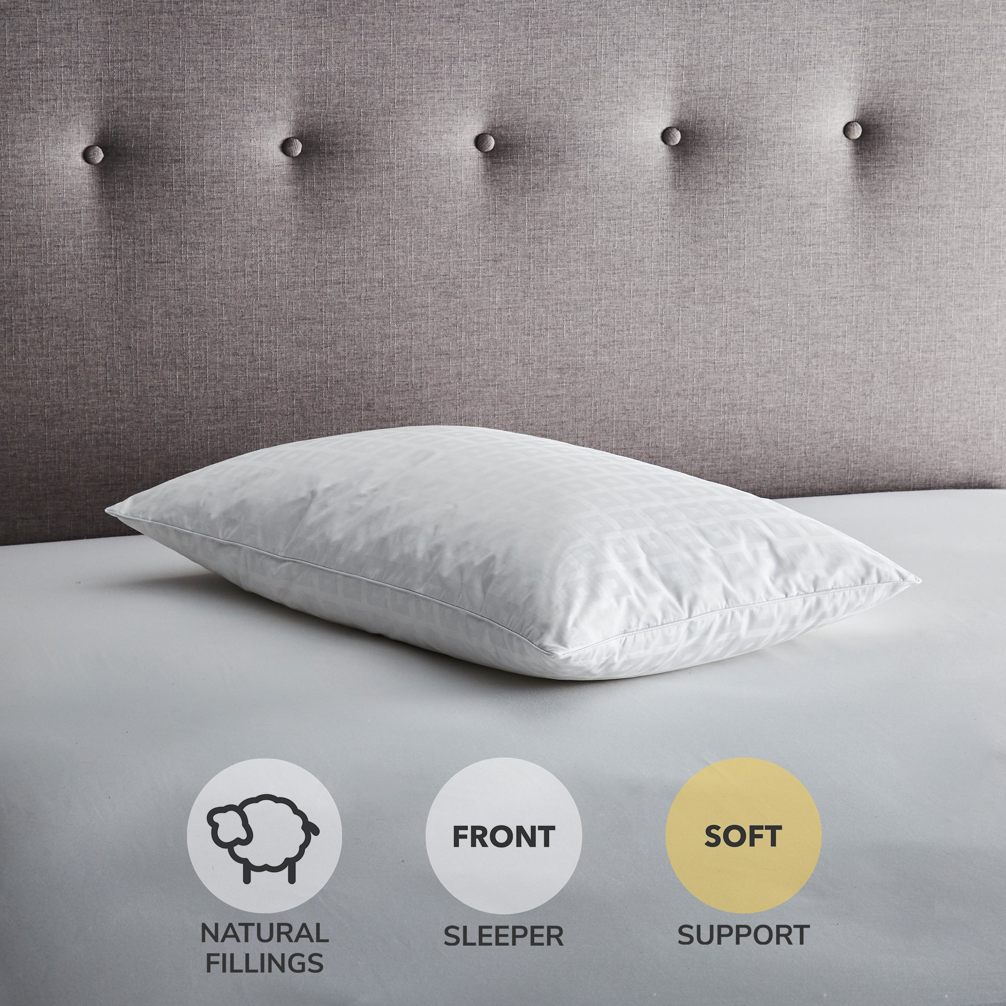 Hotel Anti Allergy White Goose Feather and Down Pillow