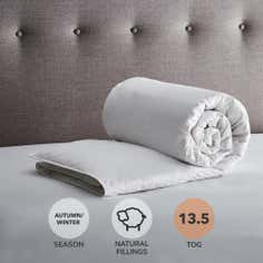 Hotel Anti Allergy 13.5 Tog White Goose Feather and Down Duvet