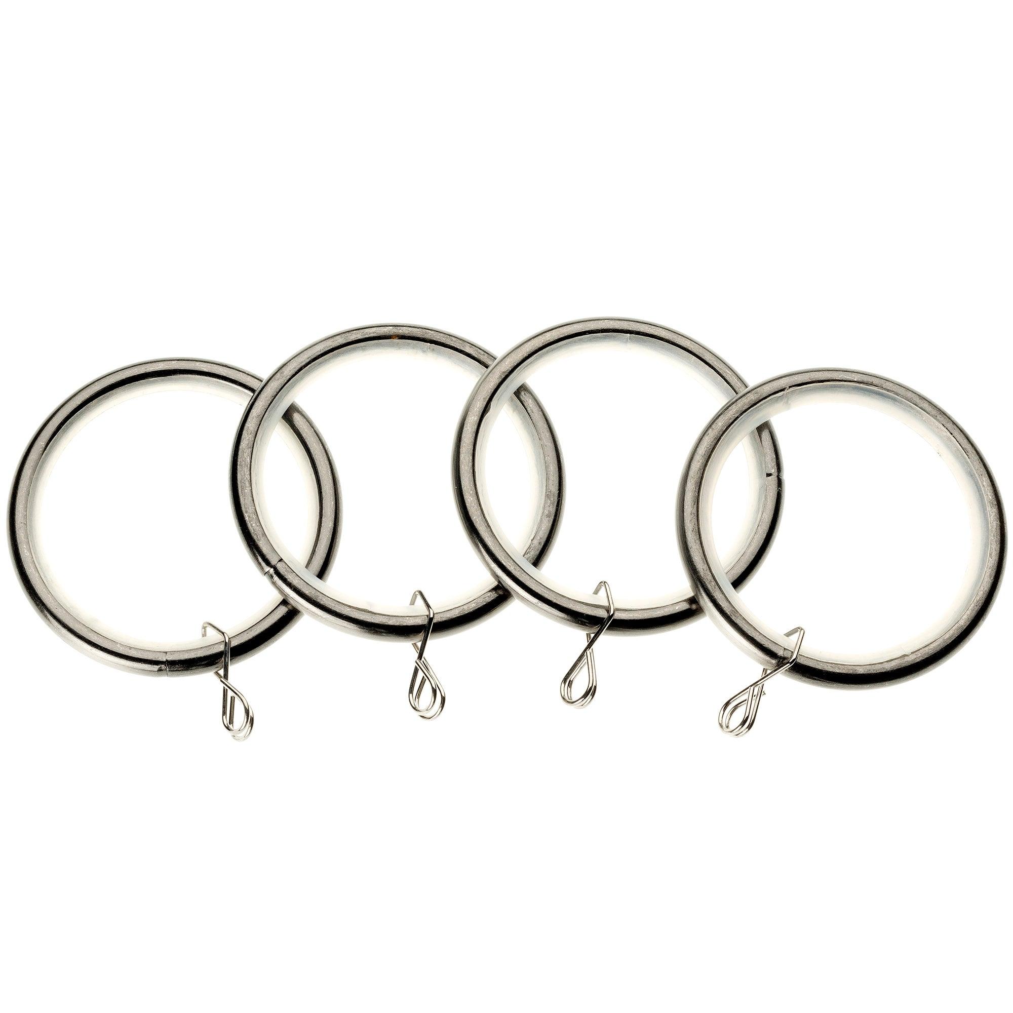 Swish Pack Of 4 Satin Steel Curtain Rings