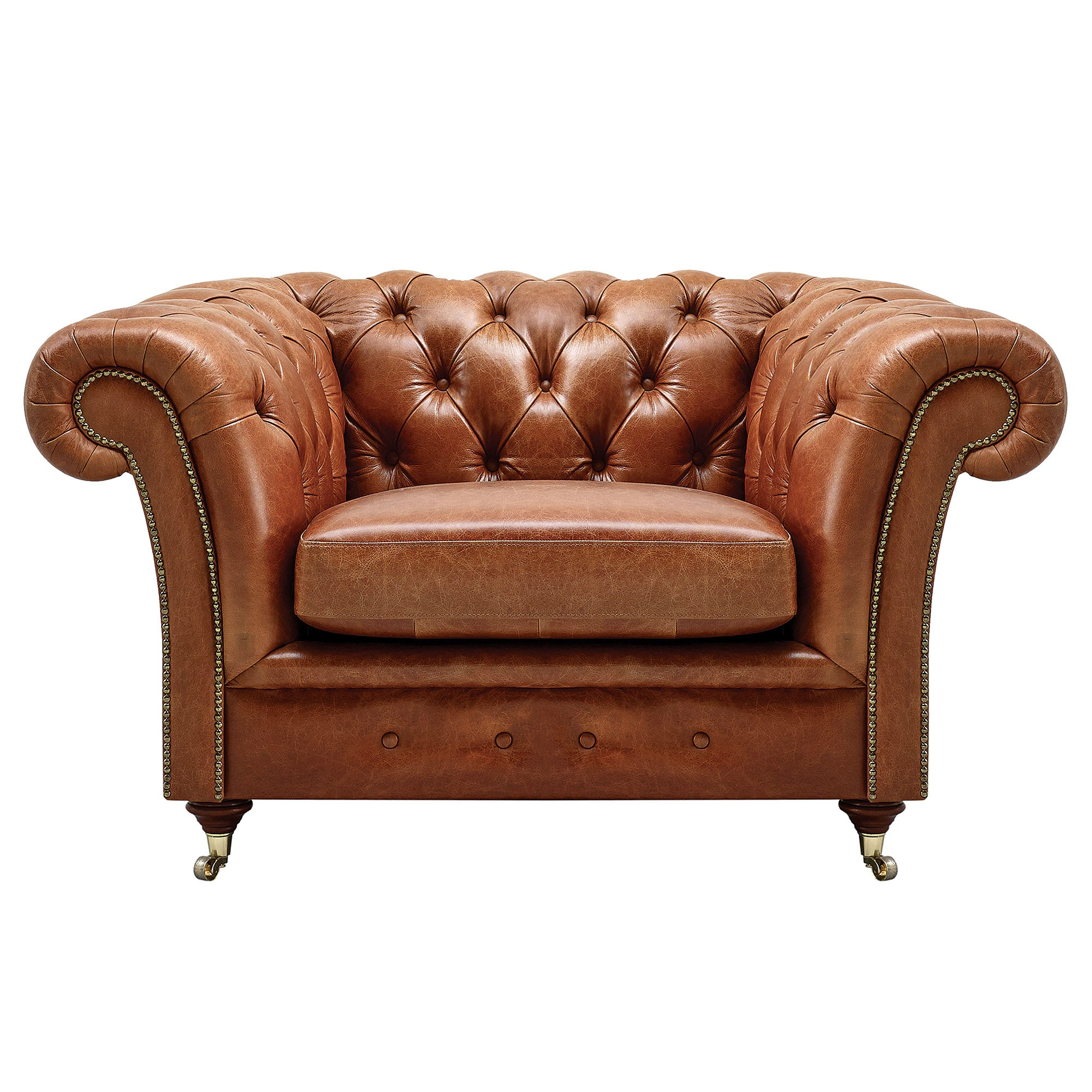 Chesterfield Collection Old English Leather Armchair