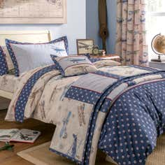 Dorma Blue Vintage Plane Collection Duvet Cover Set