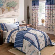 Dorma Blue Vintage Plane Collection Throw