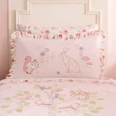 Dorma Woodland Collection Pink Oxford Pillowcase