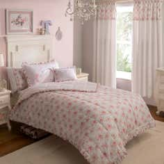 Dorma Woodland Collection Pink Quilted Throw
