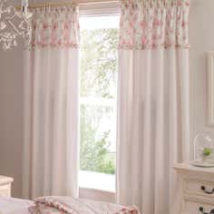 Dorma Woodland Collection Pink Curtains