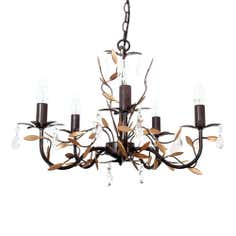 Bronze and Gold Ashford 5 Light Fitting