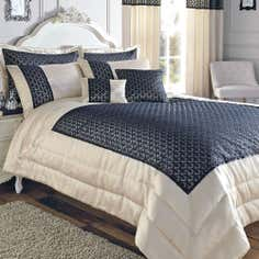 Black Franklin Collection Bedspread