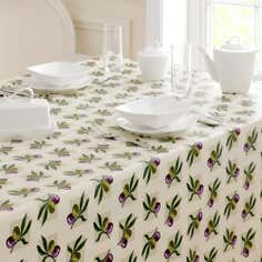 Olive Collection Round PVC Tablecloth