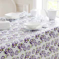Pansy Collection Round PVC Tablecloth