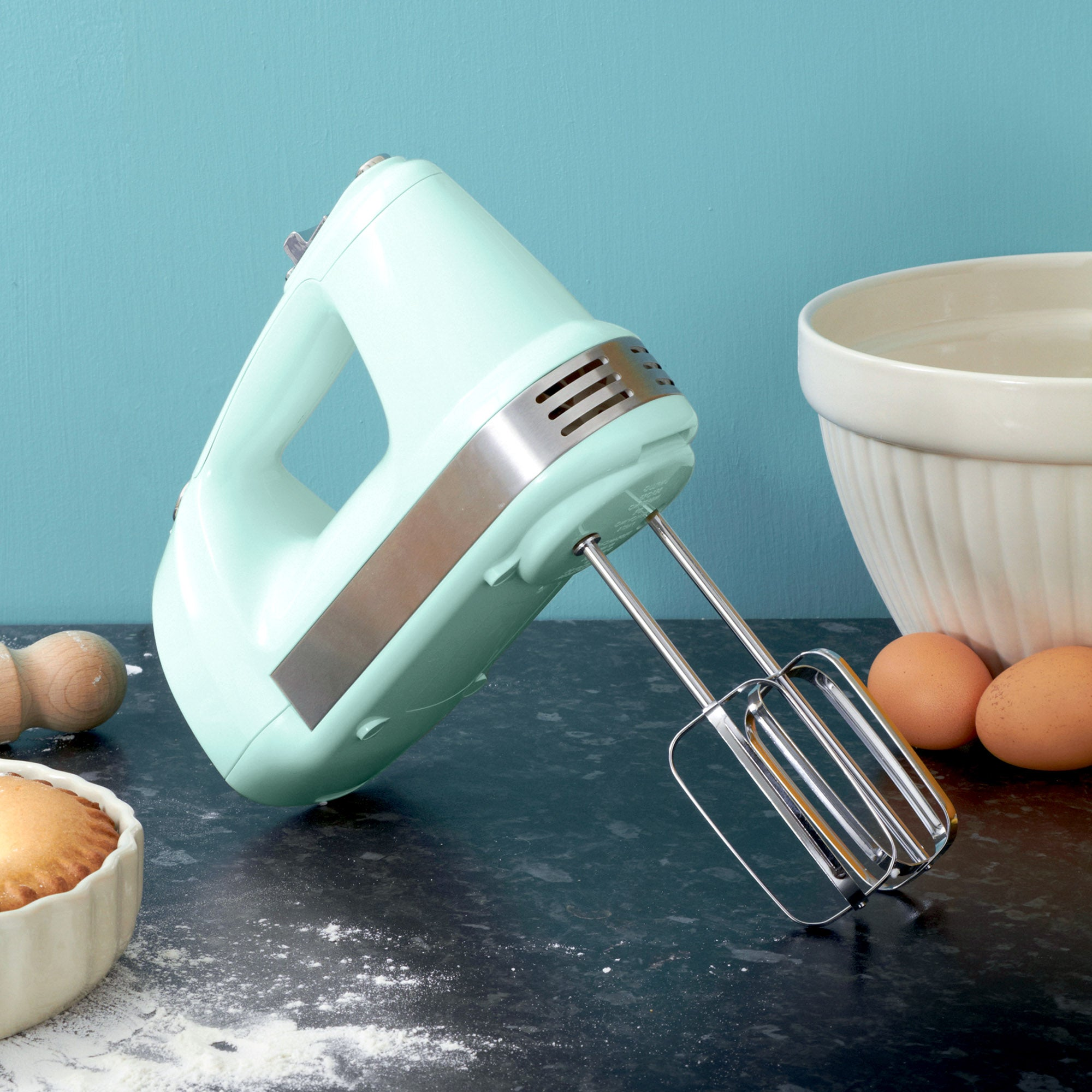 Candy Rose Collection Mint Hand Mixer