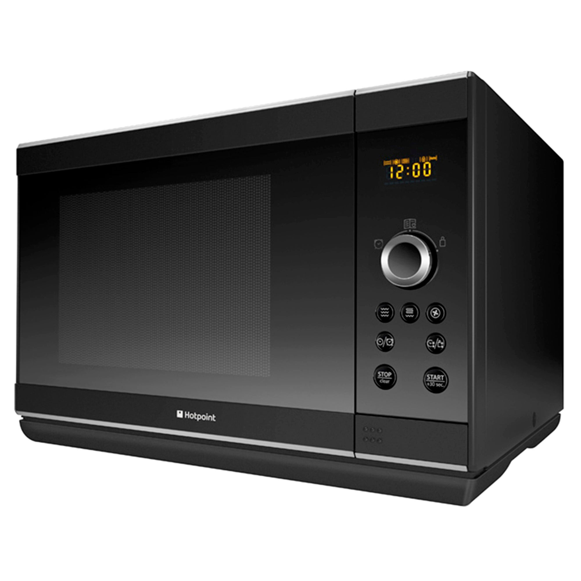 Hotpoint MWH2824B 28L 900w Stainless Steel Black Combi Microwave