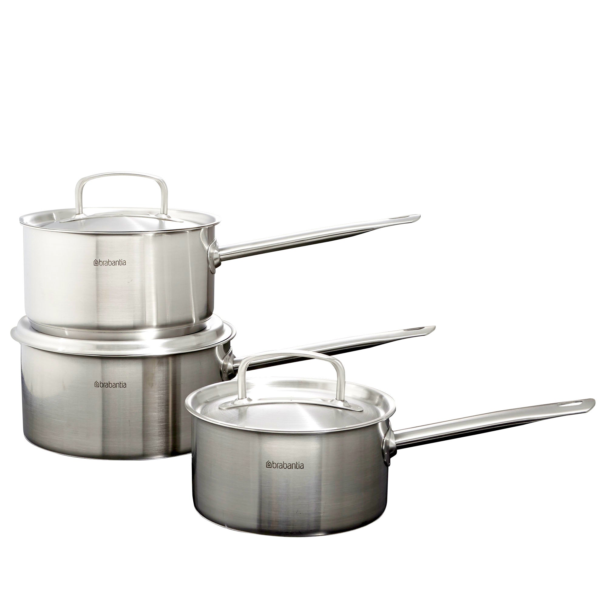 Brabantia Stainless Steel Three Piece Pan Set