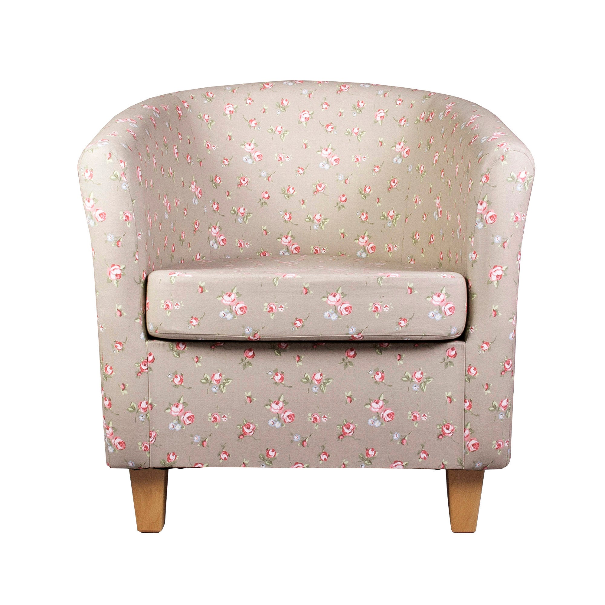 Rosebud Taupe Tub Chair