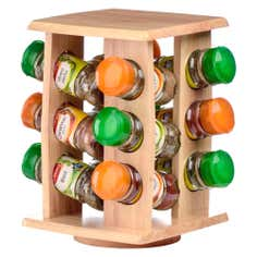 12 Jar Natural Spice Rack
