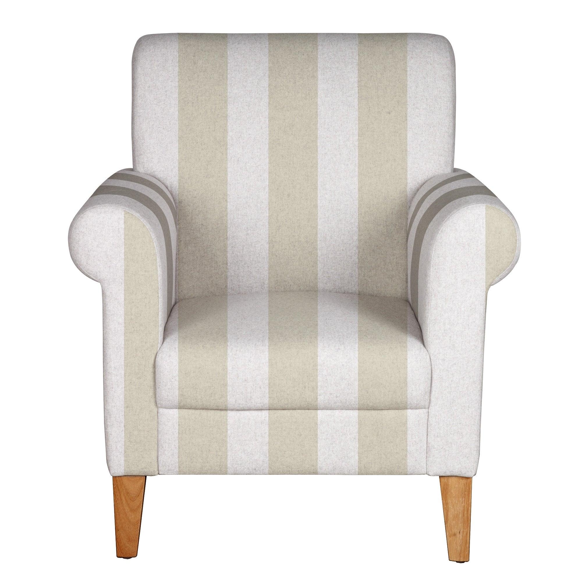 Valencia Natural Stripe Armchair
