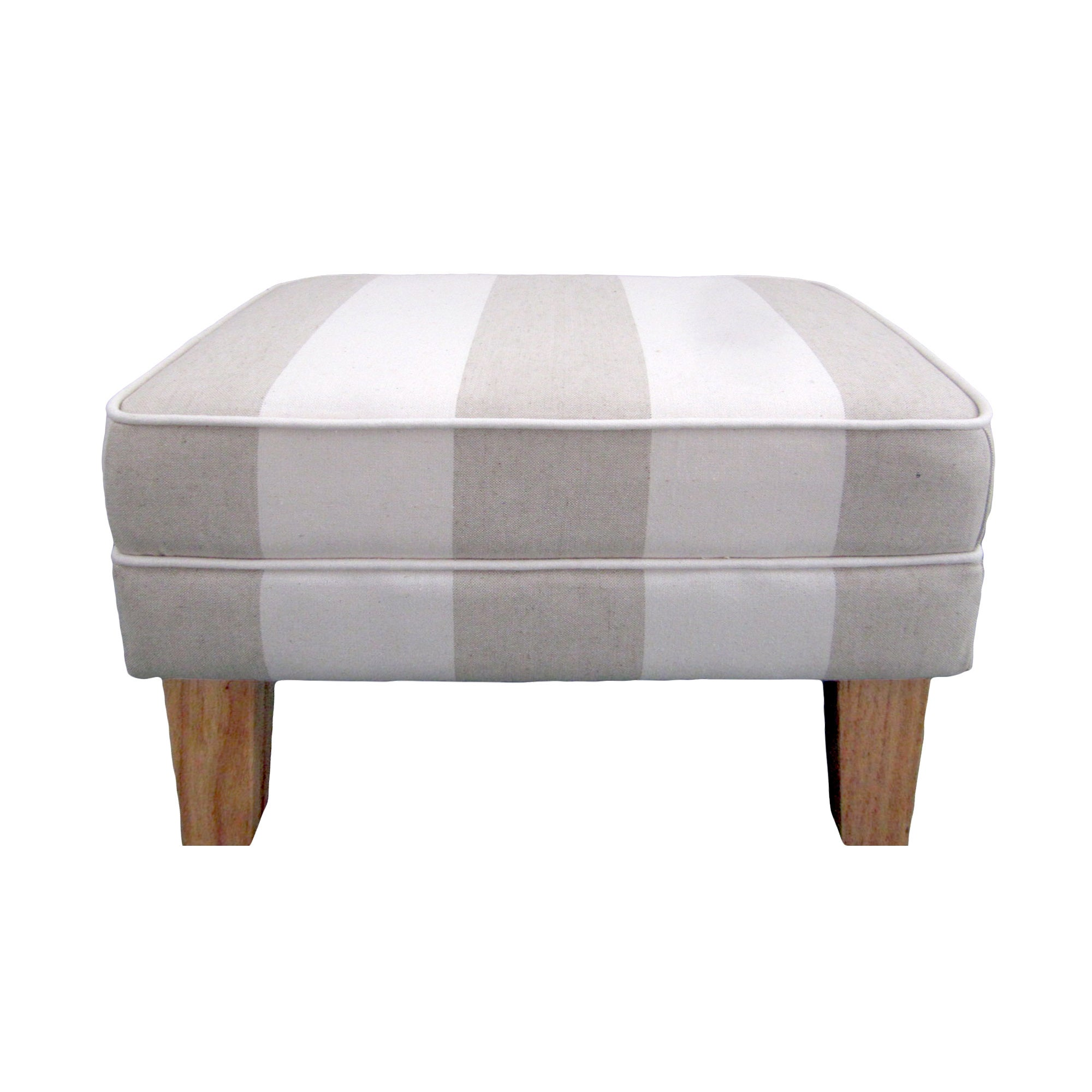 Valencia Natural Stripe Footstool