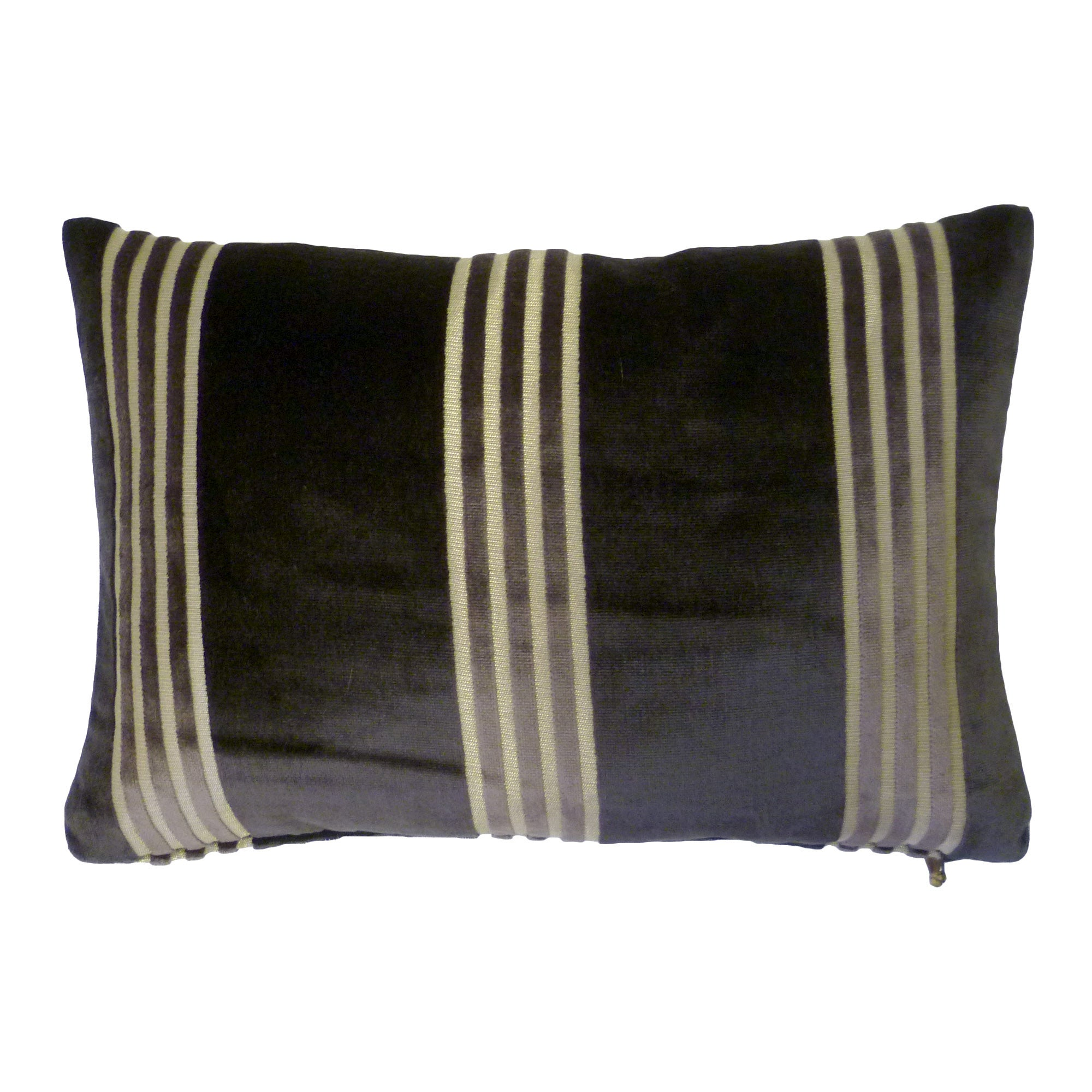 Dorma Charcoal Astor Stripe Cushion