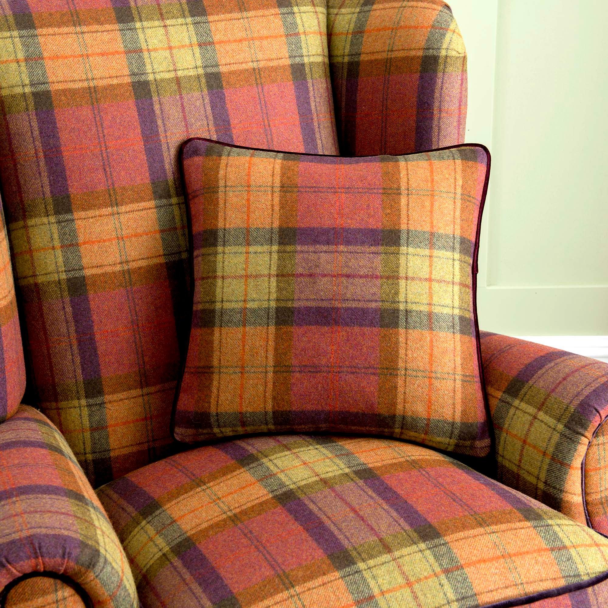 dorma berwick plaid cushion multi coloured buy online. Black Bedroom Furniture Sets. Home Design Ideas