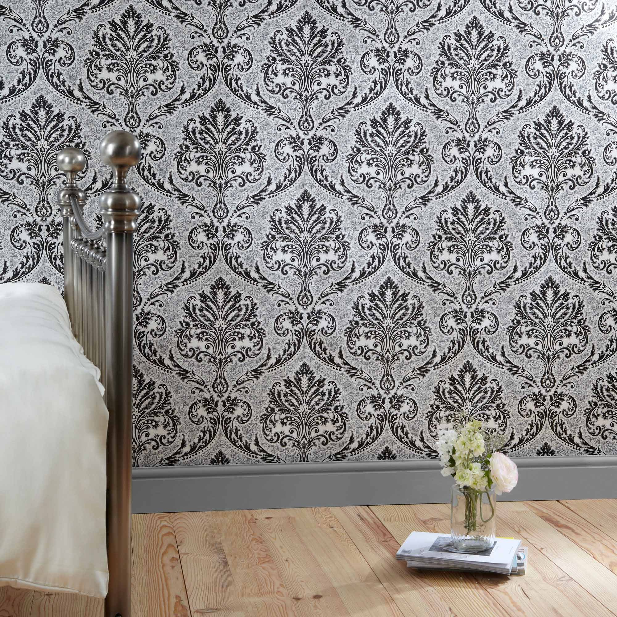 black wallpaper shop for cheap painting decorating and. Black Bedroom Furniture Sets. Home Design Ideas