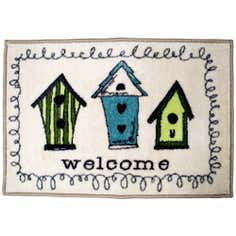 Birdhouse Washable Doormat