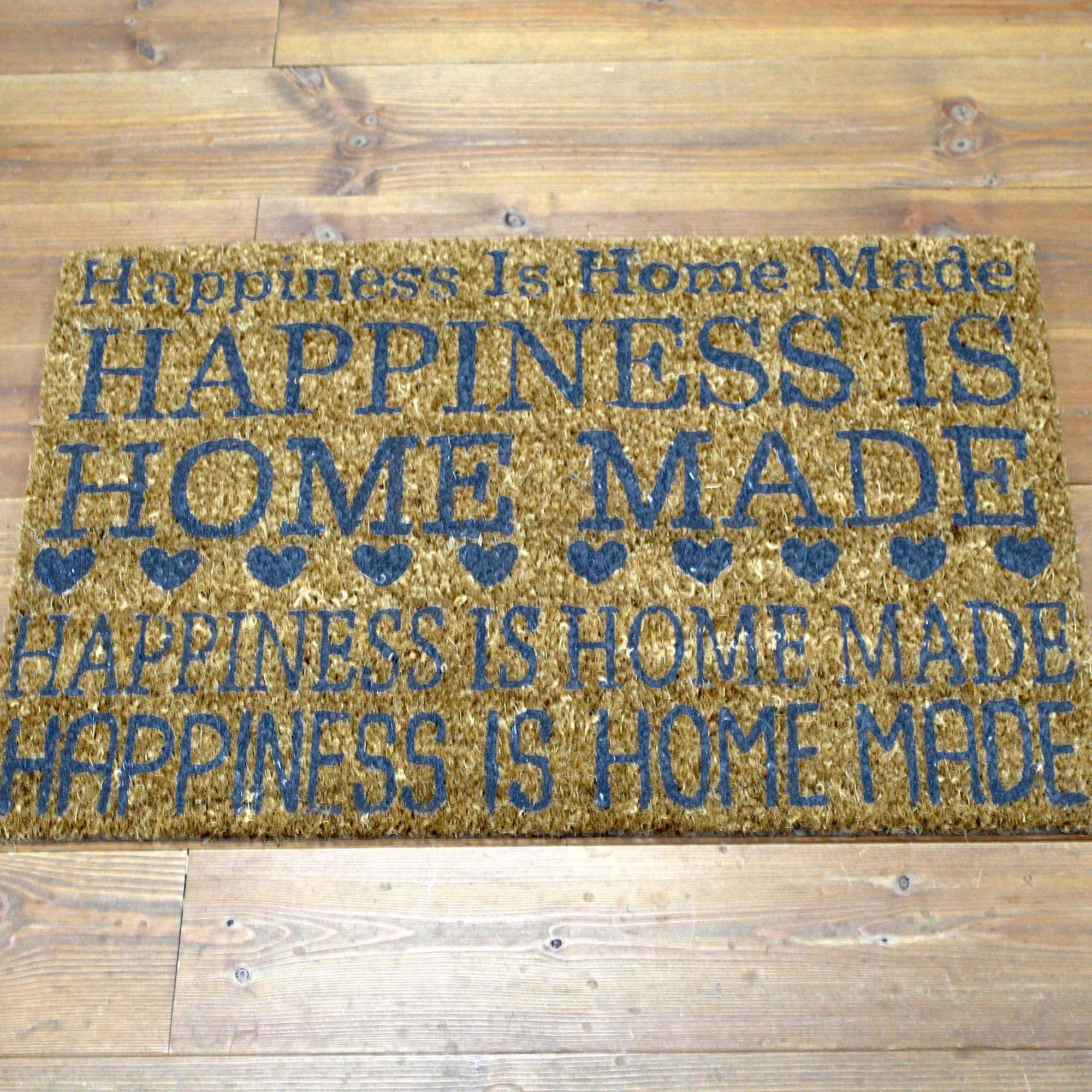 Happiness Is Homemade Coir Doormat