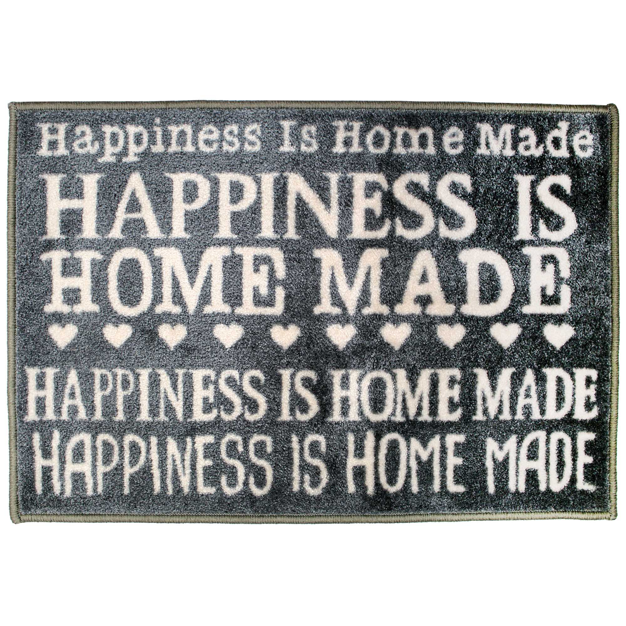 Happiness Is Homemade Washable Doormat