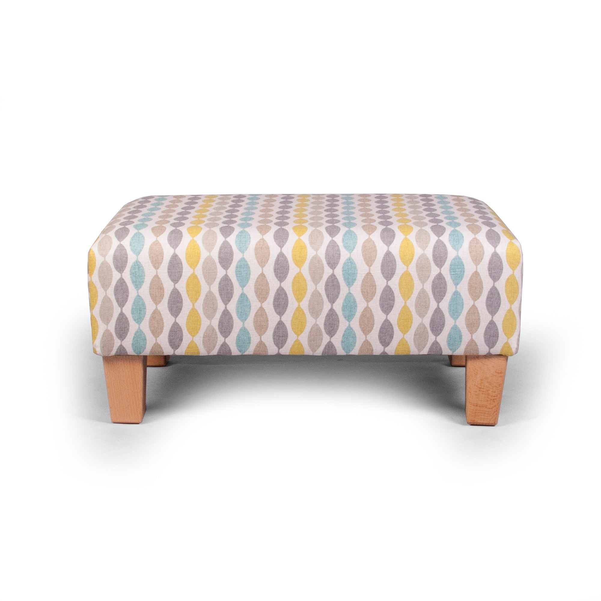 Twist Aqua Footstool