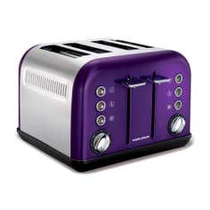 Morphy Richards Accents 242016 Plum 4 Slice Toaster