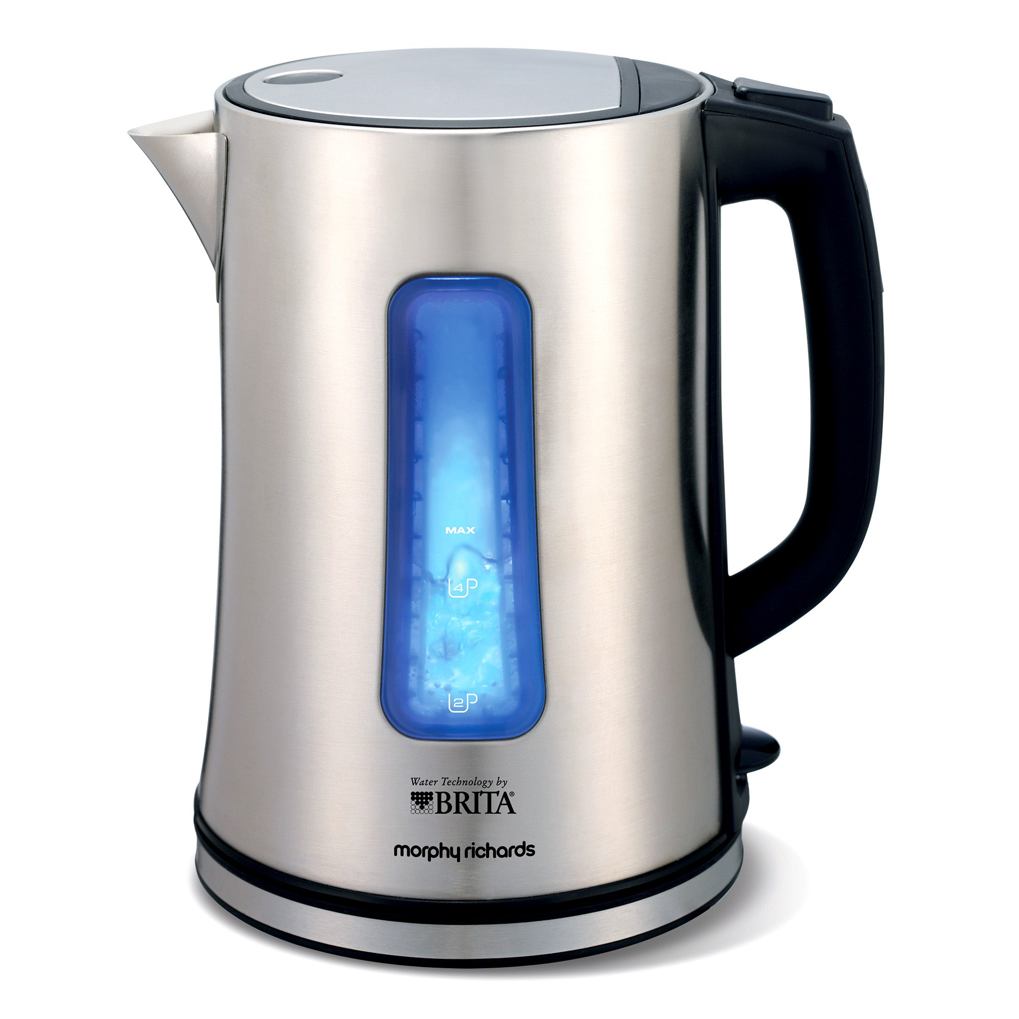 Morphy Richards Accents Brita Filter Stainless Steel Silver Jug Kettle