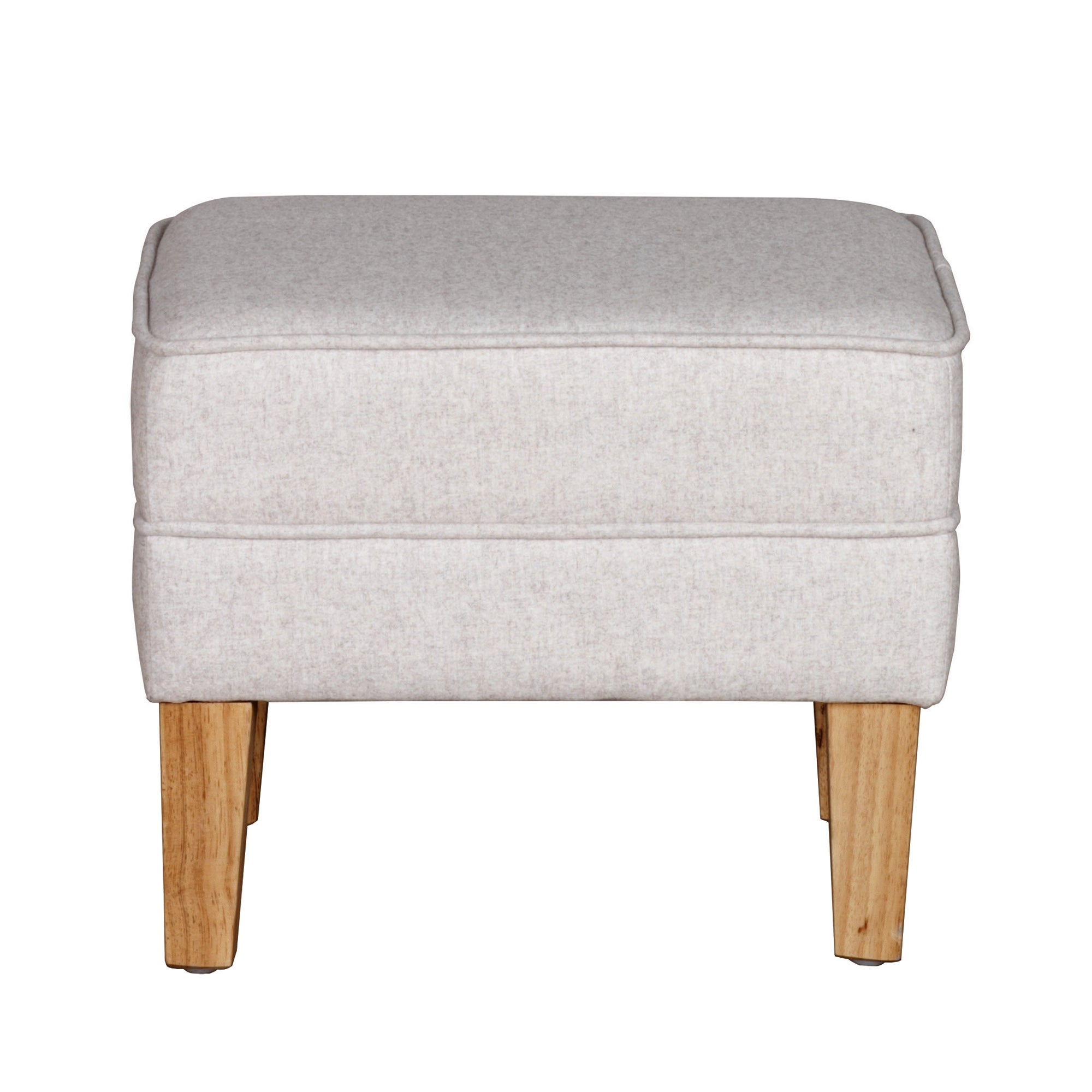 Valencia Natural Textured Weave Footstool