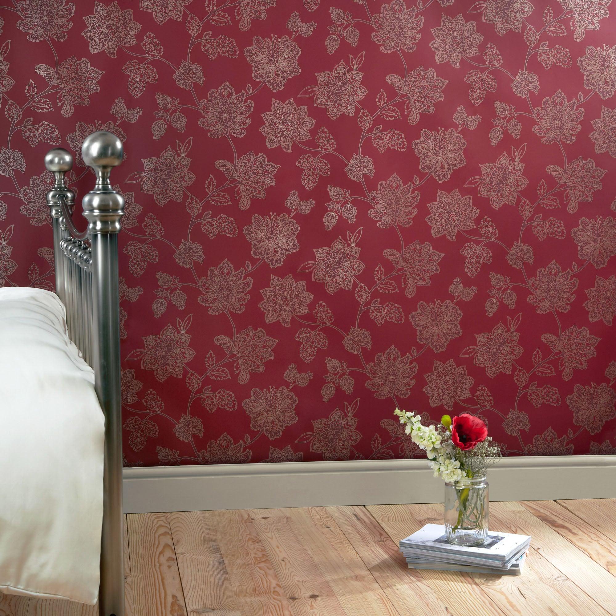 Dorma Red Samira Wallpaper