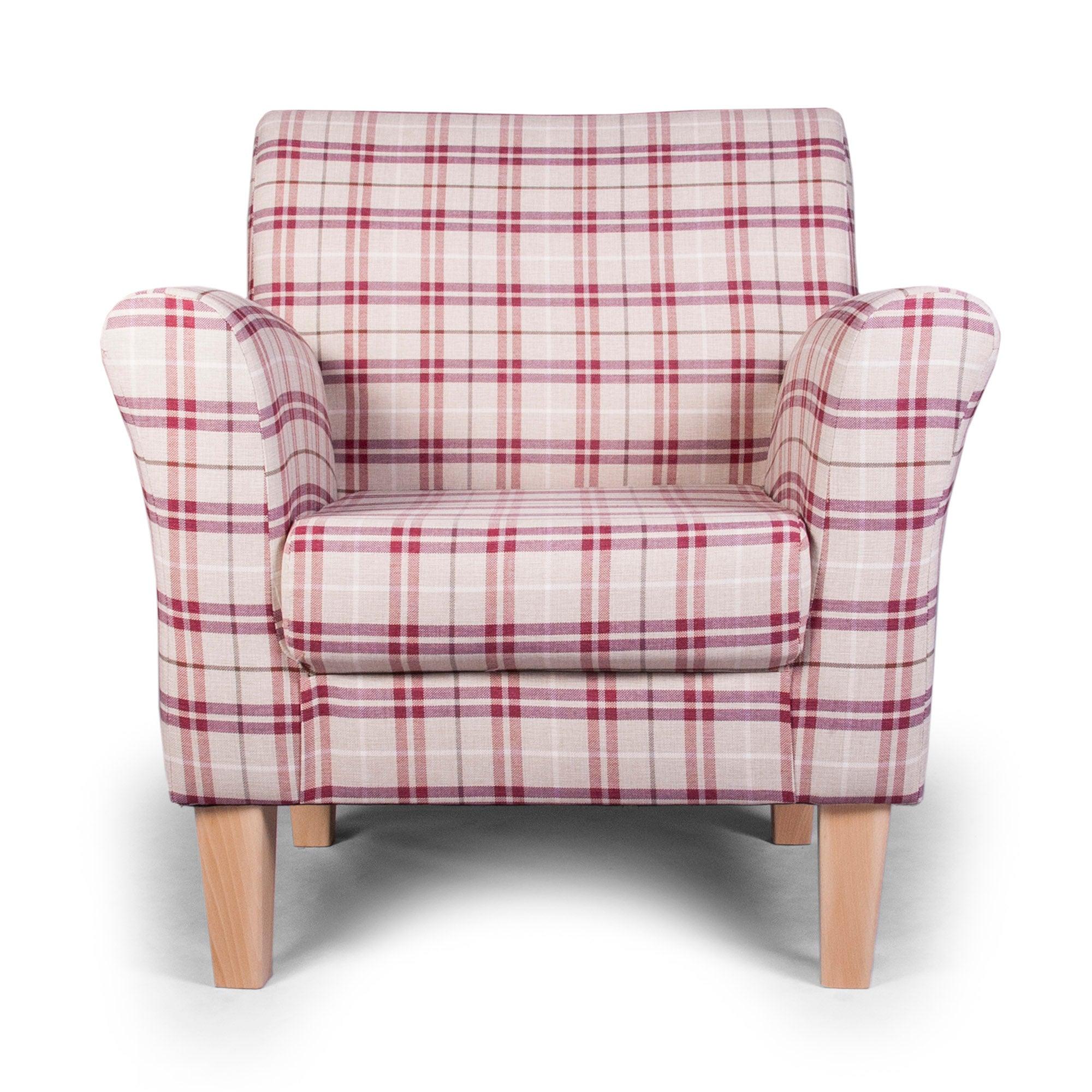 Adele Check Eden Upholstered Chair