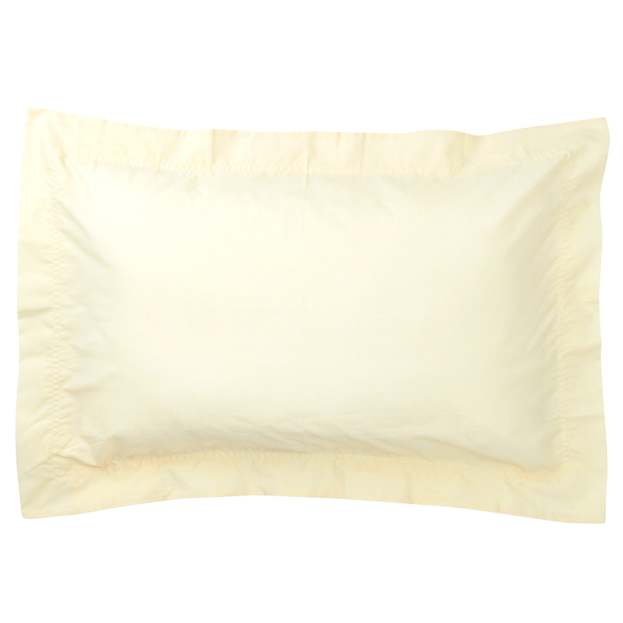 Lemon Non Iron Plain Dye Collection Oxford Pillowcase