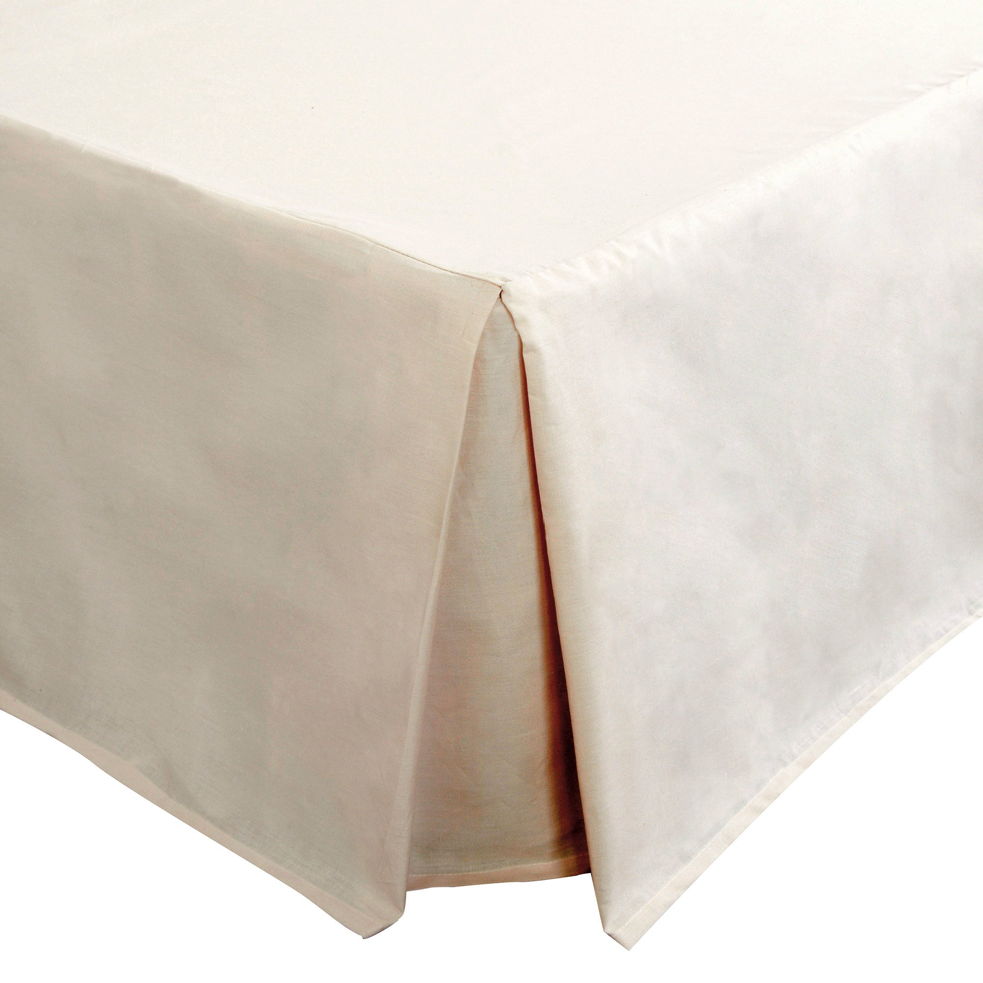 Latte Non Iron Plain Dye Collection Pleated Divan Valance