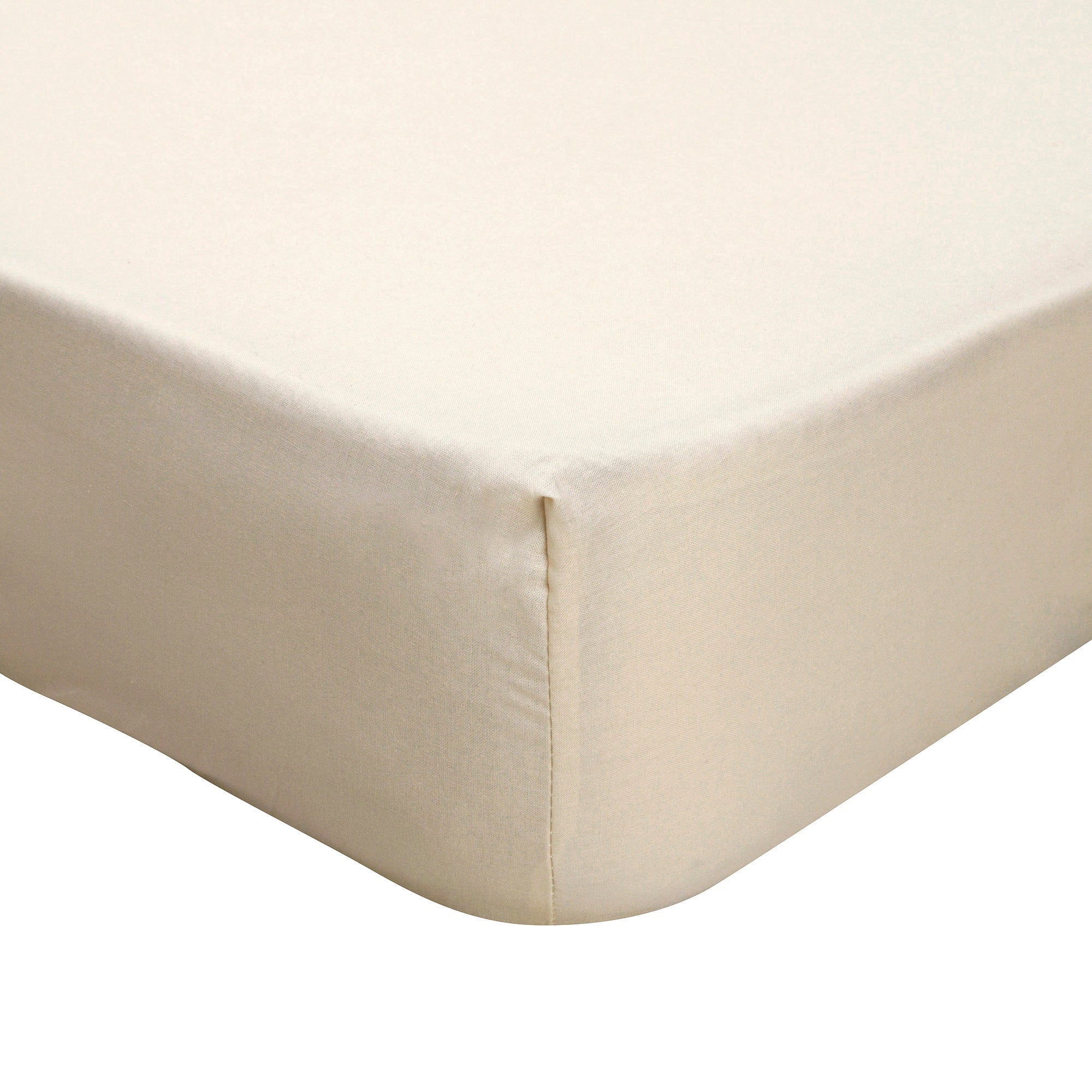 Latte Non Iron Plain Dye Collection Fitted Sheet