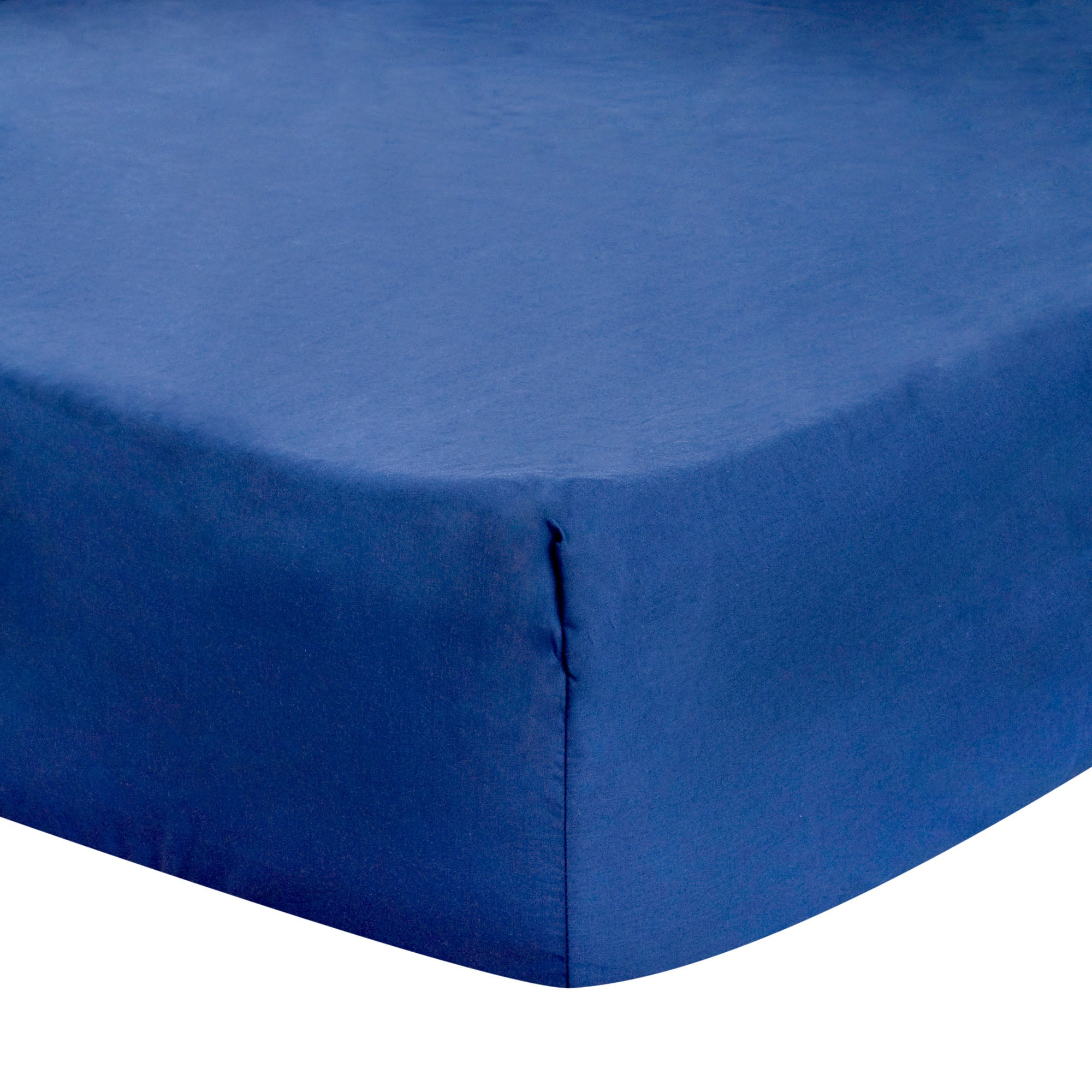 Navy Blue Dorma 300 Thread Count Plain Dye Collection Fitted Sheet